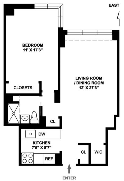 300 East 71st Street, Upper East Side, NYC, $725,000, Web #: 11898713