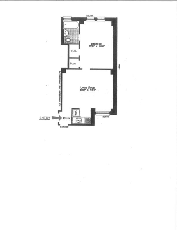 49 West 72nd Street 5E, Upper West Side, NYC, $2,595, Web #: 11901955