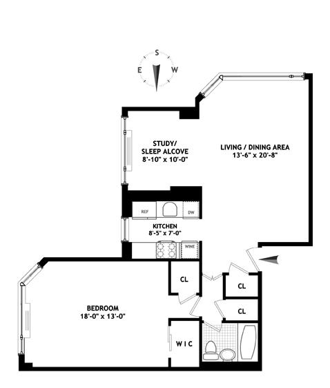 166 East 61st Street, Upper East Side, NYC, $875,000, Web #: 11975135