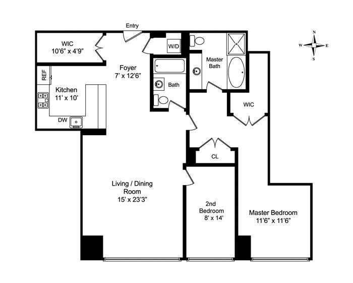 130 West 19th Street 9F, Greenwich Village/Chelsea, NYC, $1,475,000, Web #: 1207581