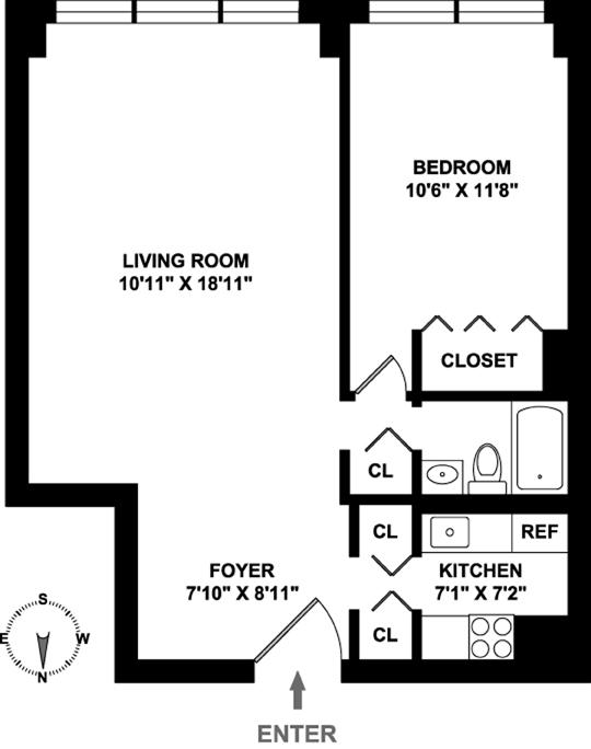 301 East 79th Street, Upper East Side, NYC, $950,000, Web #: 12124430