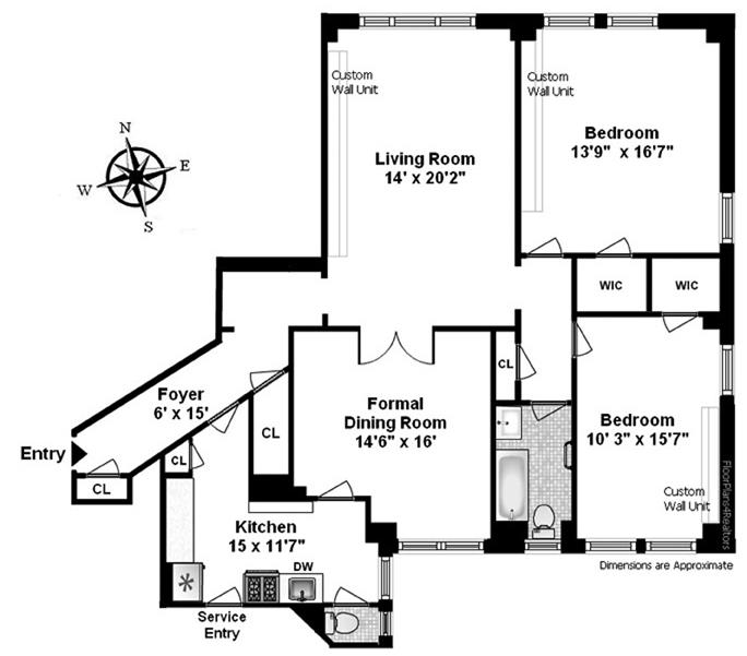 610 West 110th Street, Upper West Side, NYC, $1,725,000, Web #: 12140788