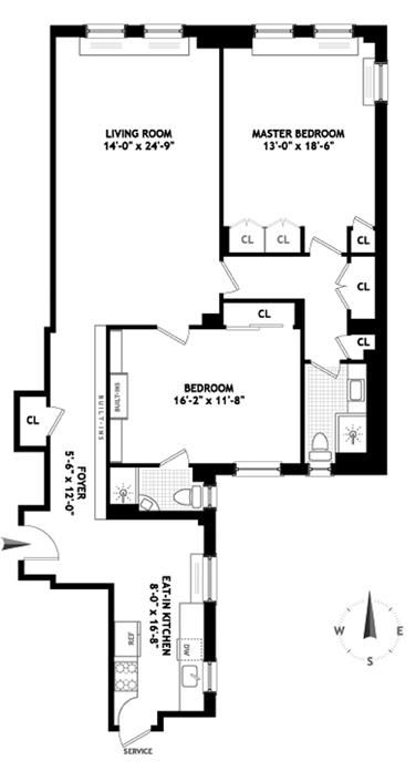 30 Beekman Place, Midtown East, NYC, $1,100,000, Web #: 1219356