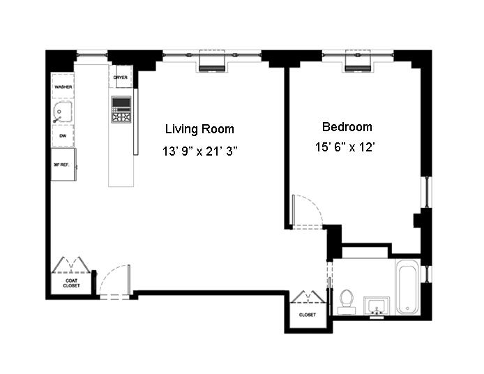 2 Horatio Street, West Village, NYC, $1,325,000, Web #: 12231283