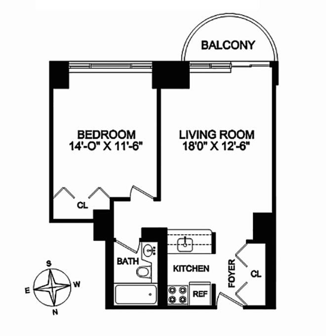 45 East 25th Street 11C, Flatiron/Gramercy Park, NYC, $3,800, Web #: 12283453