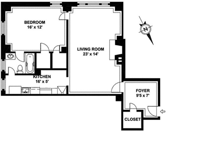 434 East 52nd Street, Midtown East, NYC, $615,000, Web #: 12355091