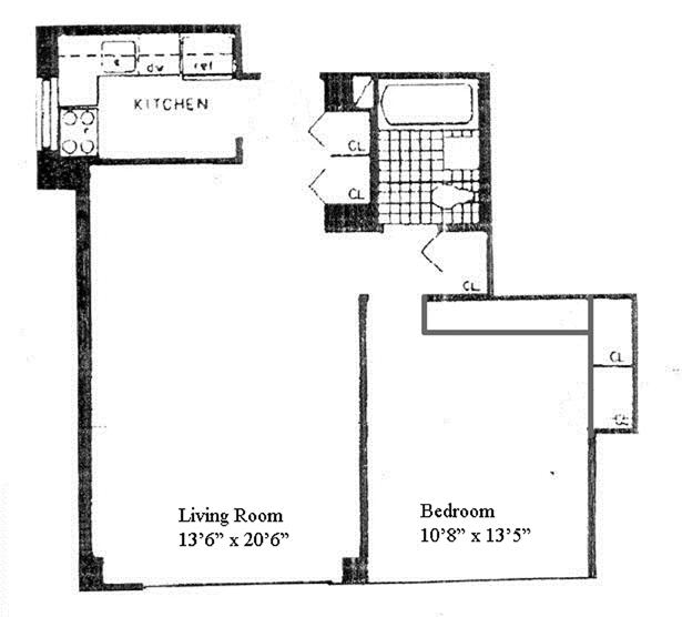 130 West 67th Street, Upper West Side, NYC, $730,000, Web #: 12413944