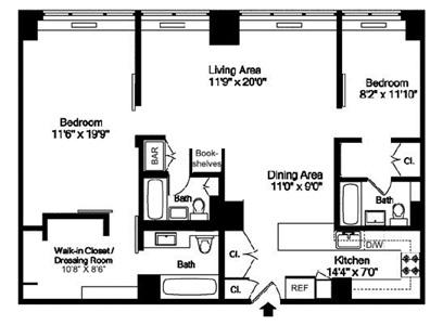 520 East 72nd Street 3Bc, Upper East Side, NYC, $1,100,000, Web #: 12506701