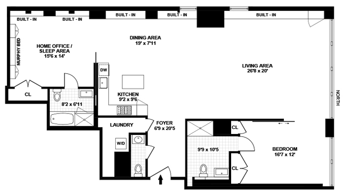 150 West 26th Street 602, Chelsea, NYC, $7,995, Web #: 12512456