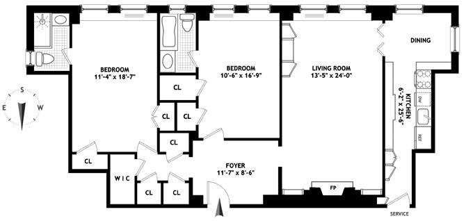 315 East 68th Street, Upper East Side, NYC, $1,655,000, Web #: 12512488