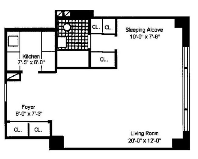 167 East 67th Street 15D, Upper East Side, NYC, $455,000, Web #: 12558941