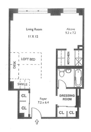63 East 9th Street, East Village, NYC, $640,000, Web #: 12566239