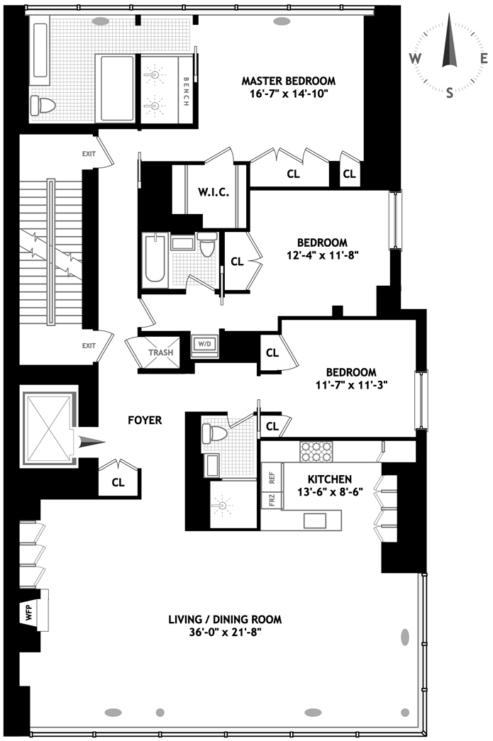515 West 23rd Street, Greenwich Village/Chelsea, NYC, $5,982,072, Web #: 1259322