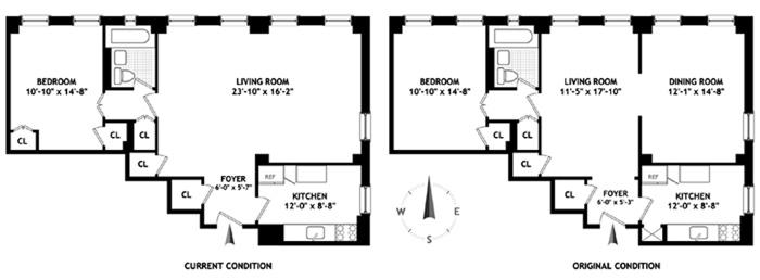 15 West 11th Street, Greenwich Village/Chelsea, NYC, $1,040,000, Web #: 1270049