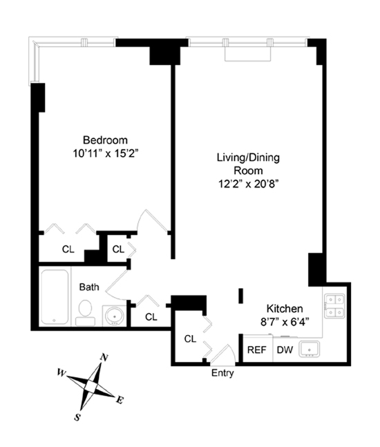 340 East 93rd Street, Upper East Side, NYC, $562,500, Web #: 12716115