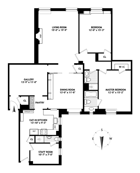 1150 Fifth Avenue, Upper East Side, NYC, $2,650,000, Web #: 12721371