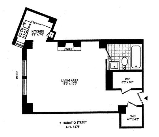 2 Horatio Street, West Village, NYC, $650,000, Web #: 12723317