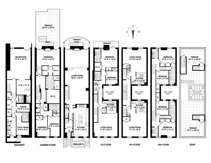 West 15th Street, Greenwich Village/Chelsea, NYC, $7,500,000, Web #: 1272354