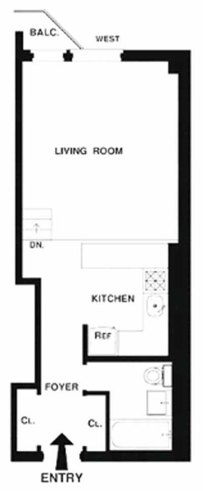 211 Thompson Street, Greenwich Village/NOHO/Little Italy, NYC, $535,000, Web #: 12769229