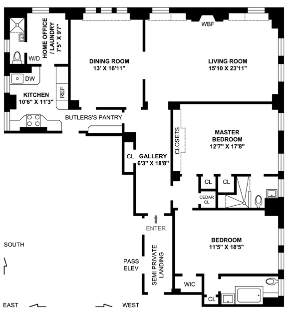1035 Park Avenue, Upper East Side, NYC, $2,400,000, Web #: 1282539