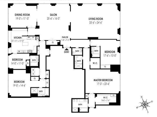 845 United Nations Plaza PH 86A, Midtown East, NYC, $17,750,000, Web #: 12827040