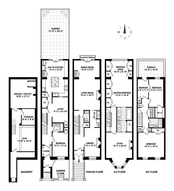 123 West 87th Street, Upper West Side, NYC, $7,390,000, Web #: 12838161