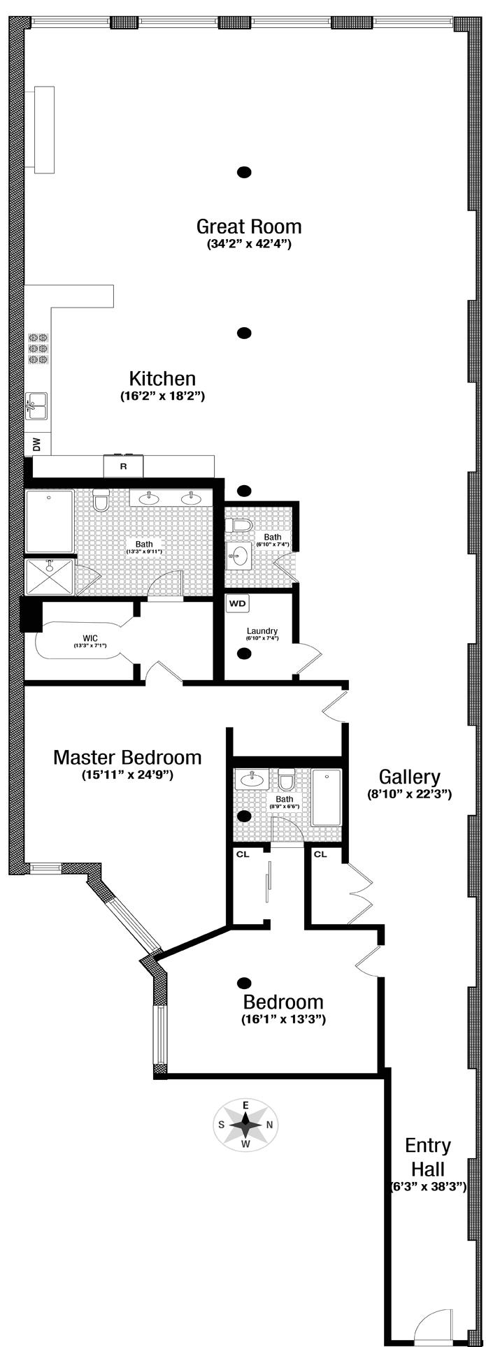 56 Crosby Street 3A, Greenwich Village/NOHO/Little Italy, NYC, $20,000, Web #: 12850301