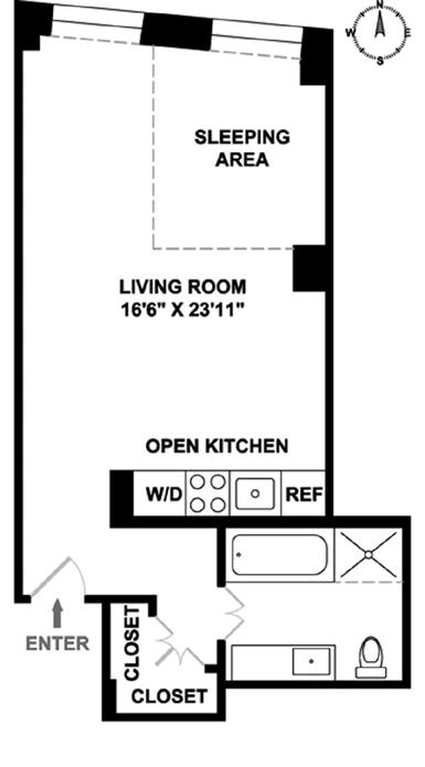 20 Pine Street, Financial District, NYC, $830,000, Web #: 12887620