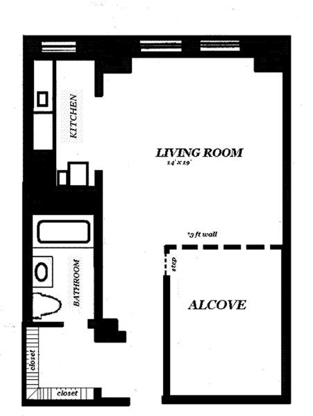 465 West 23rd Street 11E, Greenwich Village/Chelsea, NYC, $3,600, Web #: 12893362