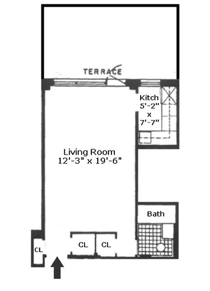 310 East 49th Street 1B, Midtown East, NYC, $340,000, Web #: 13028790
