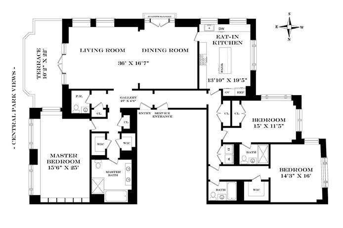 15 Central Park West, Upper West Side, NYC, $28,000,000, Web #: 13091038