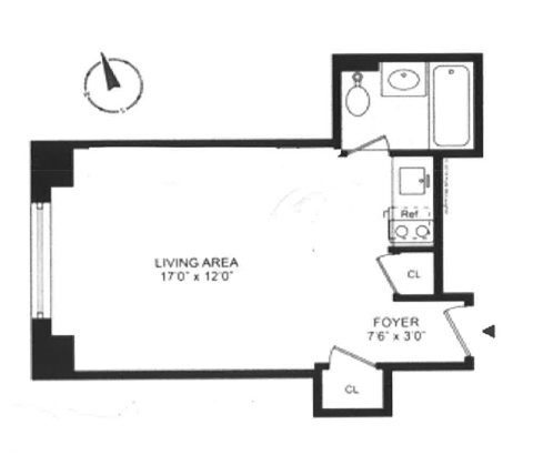 Tudor City Place, Midtown East, NYC, $1,895, Web #: 13117566