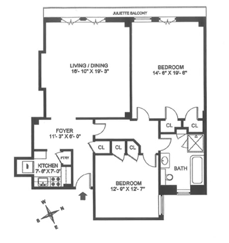 600 West End Avenue, Upper West Side, NYC, $1,323,000, Web #: 13132595
