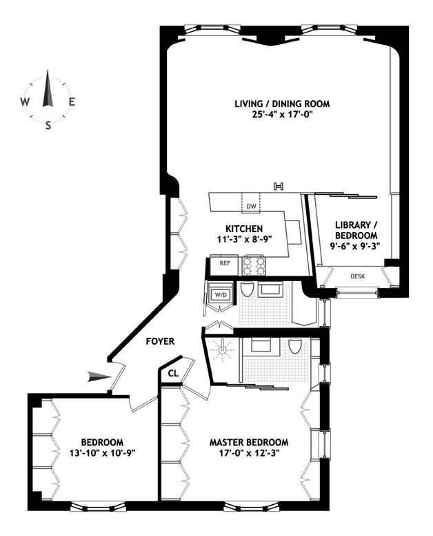 520 West 110th Street, Upper West Side, NYC, $2,069,000, Web #: 13291149