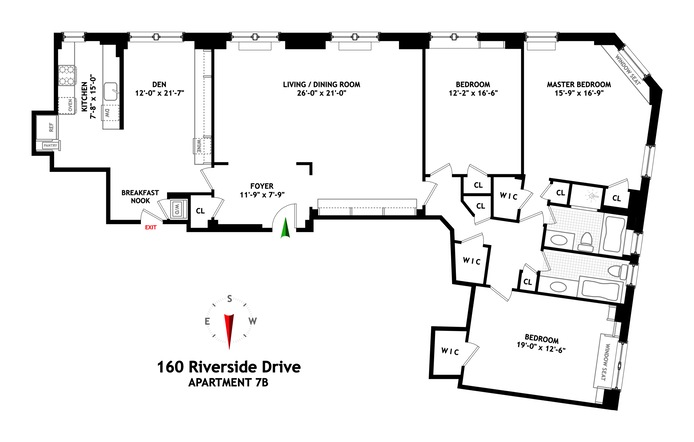 160 Riverside Drive, Upper West Side, NYC, $3,900,000, Web #: 13367821