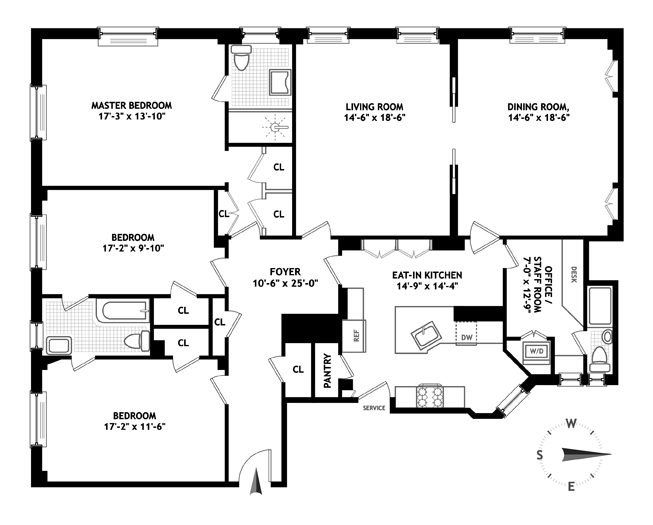 640 West End Avenue, Upper West Side, NYC, $3,750,000, Web #: 13369323