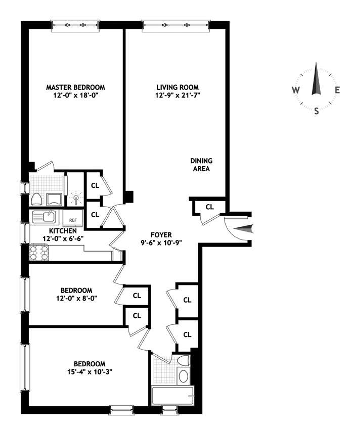 315 West End Avenue, Upper West Side, NYC, $1,750,000, Web #: 13391982