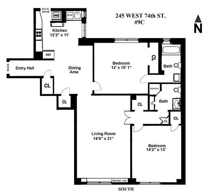245 West 74th Street, Upper West Side, NYC, $1,600,000, Web #: 13513196