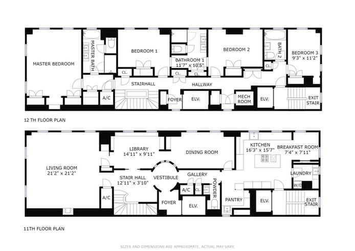 969 Fifth Avenue 11/12Fl, Upper East Side, NYC, $16,000,000, Web #: 13514359