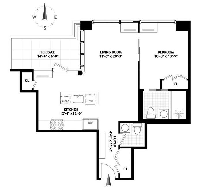 425 East 13th Street, East Village, NYC, $1,365,000, Web #: 13559835