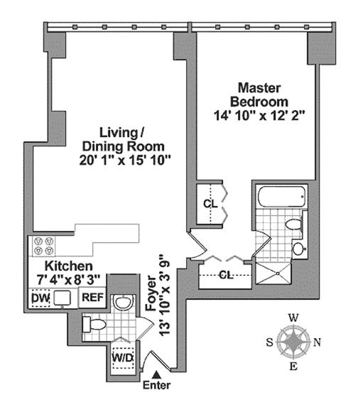 160 West 66th Street, Upper West Side, NYC, $1,900,000, Web #: 13562450