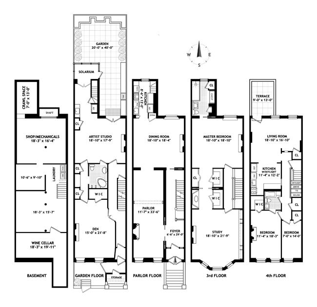 307 West 103rd Street, Upper West Side, NYC, $6,225,000, Web #: 13665036