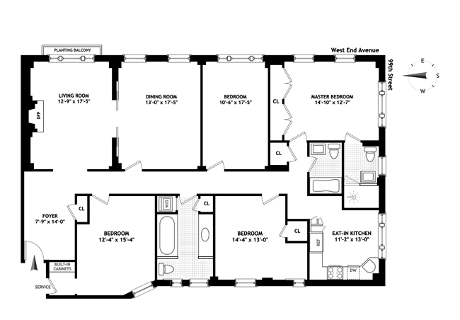 801 West End Avenue, Upper West Side, NYC, $3,200,000, Web #: 13675790
