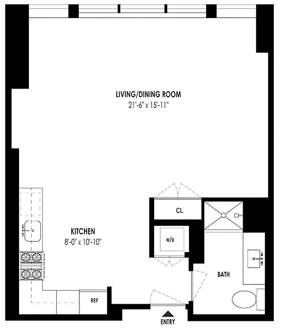 333 Rector Place, Battery Park City, NYC, $2,950, Web #: 14068370
