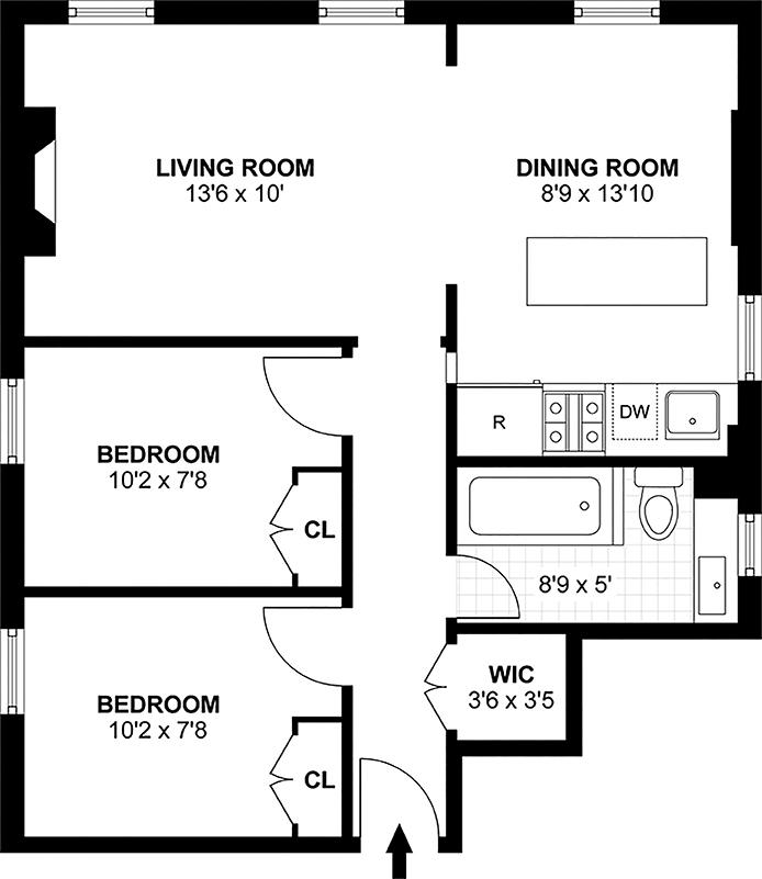 231 West 21st Street, Greenwich Village/Chelsea, NYC, $1,155,000, Web #: 14088003