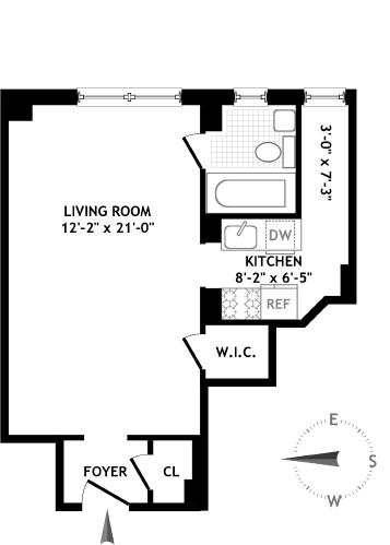 245 East 72nd Street, Upper East Side, NYC, $365,000, Web #: 14163691