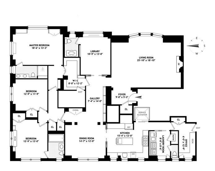 1 East End Avenue, Upper East Side, NYC, $4,295,000, Web #: 14235641