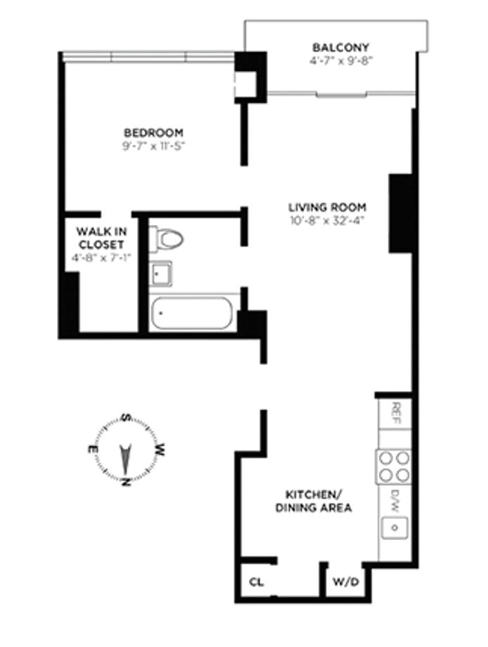 143 West 30th Street 7A, Midtown West, NYC, $3,600, Web #: 14248768