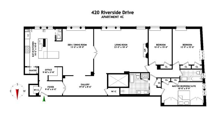 420 Riverside Drive, Upper West Side, NYC, $3,150,000, Web #: 14331307