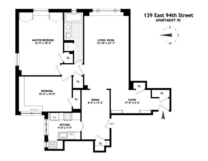 139 East 94th Street, Upper East Side, NYC, $1,210,000, Web #: 14335748